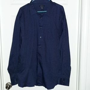 Van Heusen xxl navy stripe button shirt